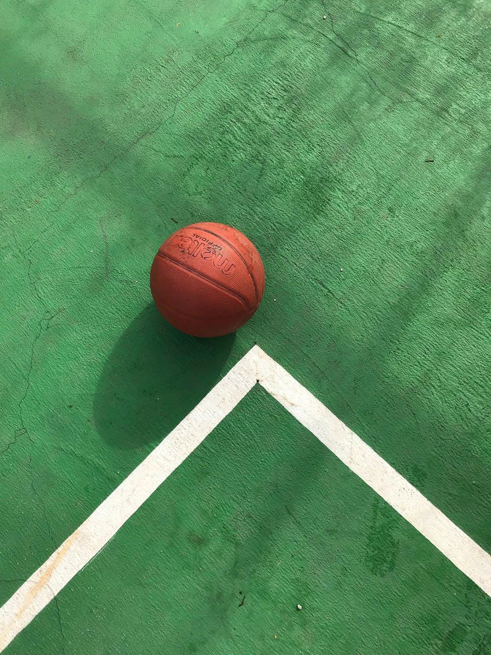 photo of basketball on floor